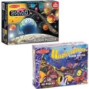 Melissa & Doug Solar System and Underwater Puzzle Bundle