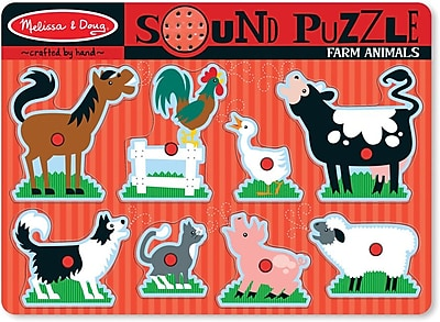 Melissa & Doug Farm Animals Sound Puzzle - 8 Pieces (726)