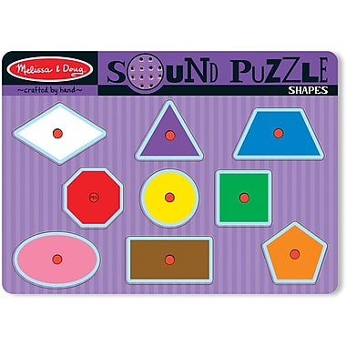 Melissa & Doug 728 Shapes Sound Puzzle