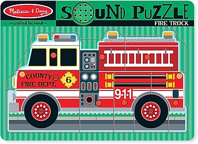 Melissa & Doug Fire Truck Sound Puzzle - 9 Pieces (731)
