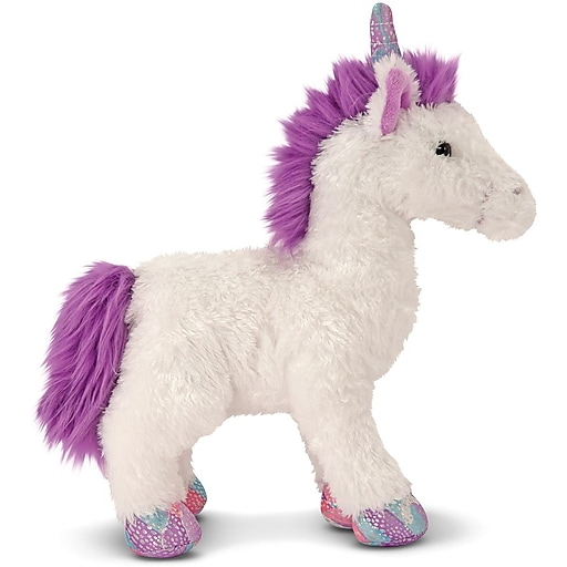 Melissa & Doug Misty White Unicorn Stuffed Animal (7572)