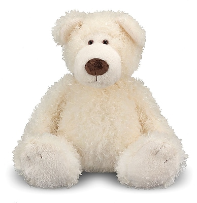 Melissa & Doug Big Roscoe Vanilla Teddy Bear Stuffed Animal (7731)