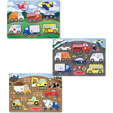 Melissa & Doug Peg Puzzle Boy Bundle