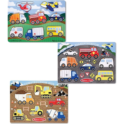 Melissa & Doug Peg Puzzle Boy Bundle (7979)