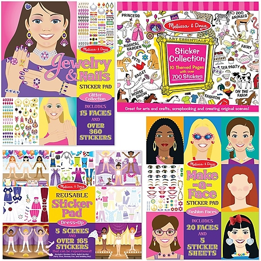 Melissa & Doug Girl Sticker Bundle (7983)