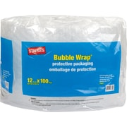 "Staples Premium Bubble Wrap, 12"" x 100' Roll, 5/16"" Thick"