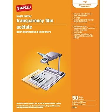 Staples® - film d'acétates pour imprimantes jet d'encre