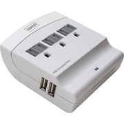 Staples 3-Outlet 1200 Joule Wall Mount Surge Protector with USB Charging Ports