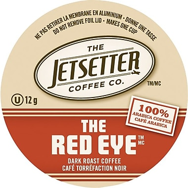 Jetsetter Coffee Co. – Café The Red Eye, portions individuelles, paq./18