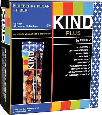 KIND Blueberry Pecan PLUS Fiber Bars, 1.41 oz. Bars, 12 Bars/Box