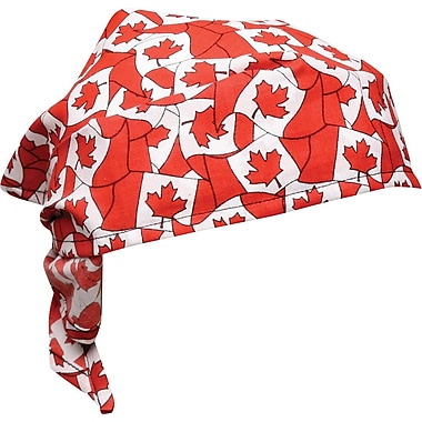 THERMO-COOL Qwik Cooler Triangle Bandana, Canadian Flag Pattern