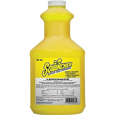 Sqwincher Concentrate, 64 oz, Lemonade Flavour, 6/Case