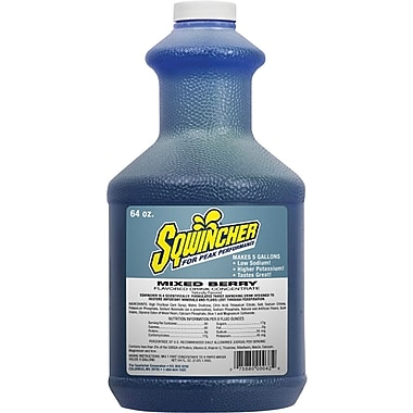 Sqwincher Concentrate, 64 oz, Mixed Berry Flavour, 6/Case