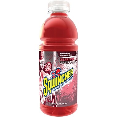 Sqwincher Ready to Drink Bottle, 20 oz, Fruit Punch