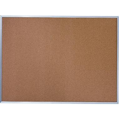 Quartet Basic Cork Bulletin Board with Aluminum Frame, 4' x 3'
