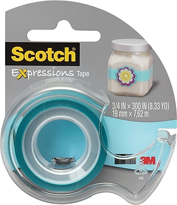 Scotch Expressions Tape, Blue, Removable, 3/4