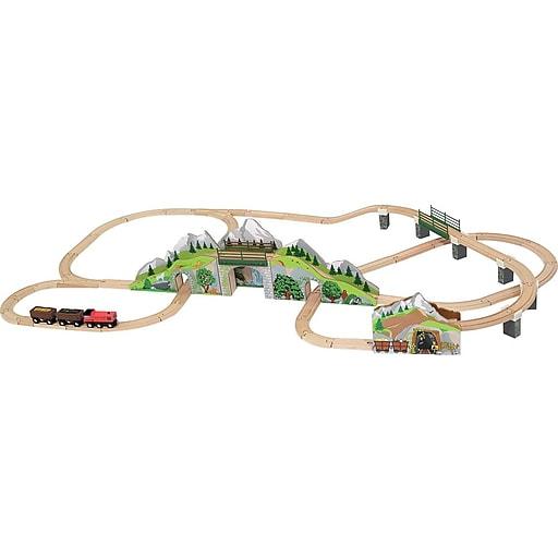Melissa & Doug Mountain Tunnel Wooden Train Set (611)
