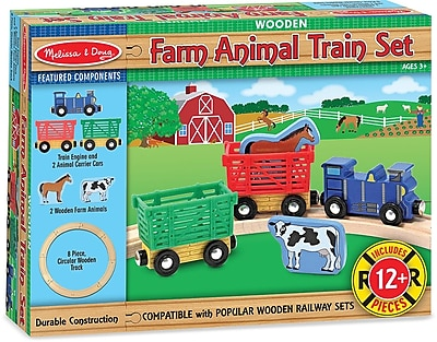 Melissa & Doug Farm Animal Train Set 178504