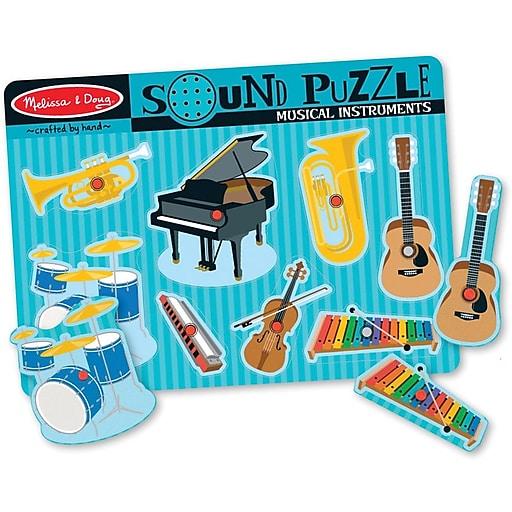 Melissa & Doug Musical Instruments Sound Puzzle - 8 Pieces (732)