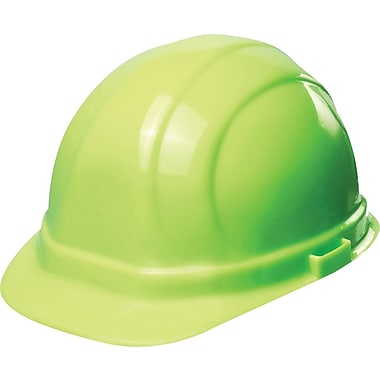Omega II® Hard Hat, CSA Type 1, Mega Ratchet, Class E Certified, ANSI Type I, Hi-Viz Lime Green