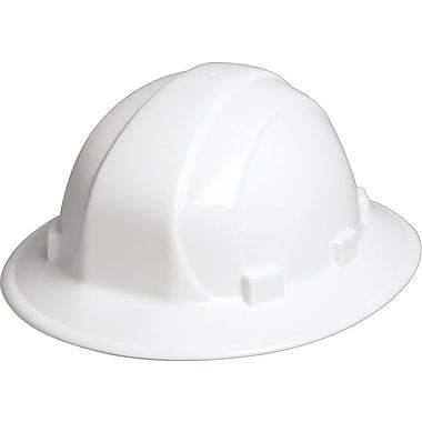Omega II - Casque dur, rebord complet, ajustement à coulisse latérale, homologué CSA Type 1, classe E, ANSI Type I, blanc