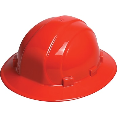 Omega II® Hard Hat, Full Brim, CSA Type 1, Mega Ratchet Adjustment, Class E Certified, ANSI Type I, Red