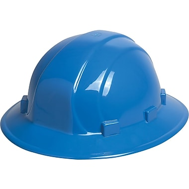 Omega II® Hard Hat, Full Brim, CSA Type 1, Slide-Lock, Class E Certified, ANSI Type I, Blue