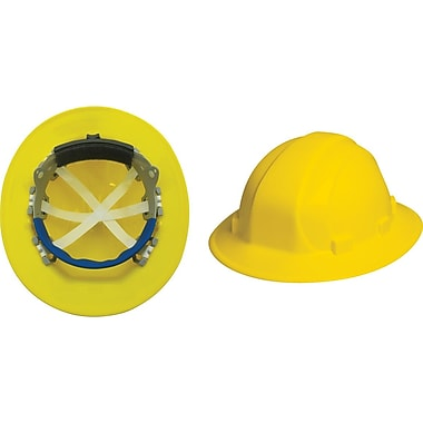 Omega II® Hard Hat, Full Brim, CSA Type 1, Mega Ratchet Adjustment, Class E Certified, ANSI Type I, Yellow