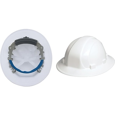 Omega II® Hard Hat, Full Brim, CSA Type 1, Mega Ratchet Adjustment, Class E Certified, ANSI Type I, White