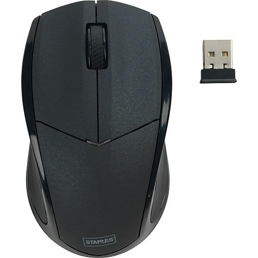 Staples Wireless Mouse Black Staples