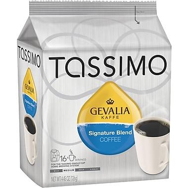 Tassimo Gevalia Signature Blend Coffee, Regular, 16 T-Discs/Pack