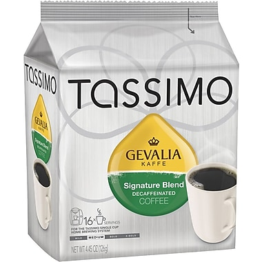 Tassimo Gevalia Signature Blend Coffee, Decaffeinated, 16 T-Discs/Pack