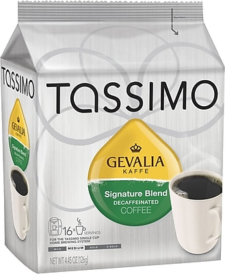 Tassimo® Gevalia® Signature Blend Decaf Coffee T-Discs, Medium Roast, Decaffeinated, 16/Box (1321)