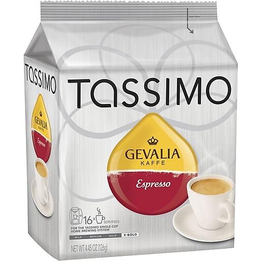 TASSIMO Mastro Lorenzo Espresso Tassimo Discs Coffee, Dark Roast, 16/Box (TASSIMO ESPRESSO)