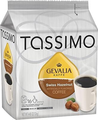 Tassimo® Gevalia® Hazelnut Coffee T-Discs, Medium Roast, 16/Box (01942)
