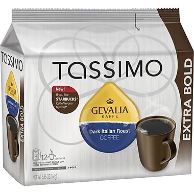 Tassimo Gevalia Dark Italian Roast Coffee, Regular, 12 T-Discs/Pack
