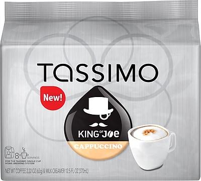 Tassimo King of Joe Cappuccino, 8 Creamer + 8 Espresso T-Discs/Pack