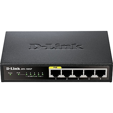 D-Link DES-1005P 5-Port Ethernet Switch w/1 PoE Port