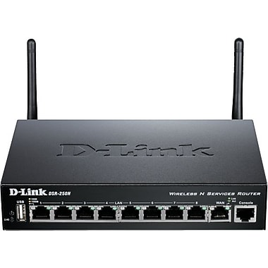 D-Link DSR-250N Wireless Services VPN Router, 8-Port