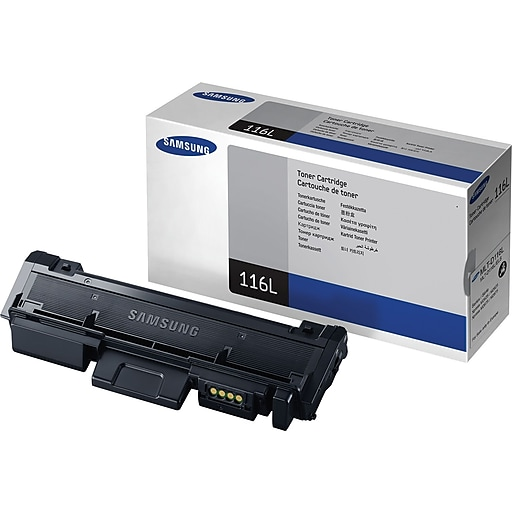 Samsung MLT-D116L Black Toner Cartridge, High Yield (SU832A)