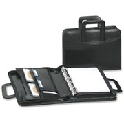 Bond Street Leather Padfolio with Sliding Handles, Black