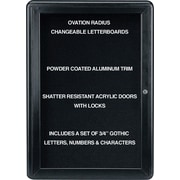 "Ghent Ovation Changeable Letter Board, 1 Door, 24"" x 34"""