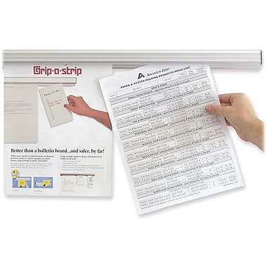 AdvantusMD – Rail d'affichage Grip-A-Strip, 96 po