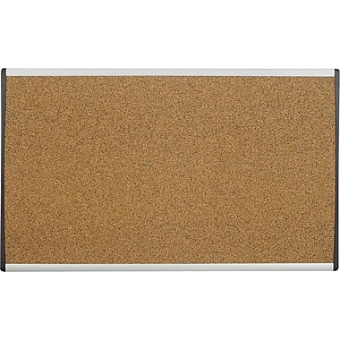 Quartet® Coloured Cork Bulletin Board, Aluminum Frame, 30