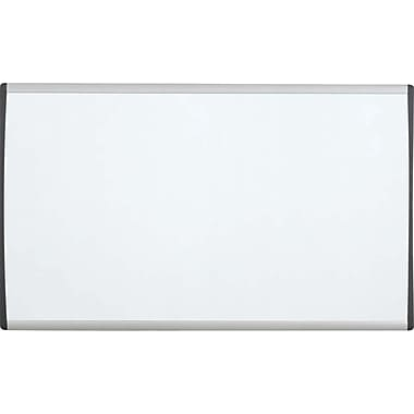 QuartetMD – Tableau blanc aimanté avec cadre en aluminium, série Cubicle, 30 x 18 po