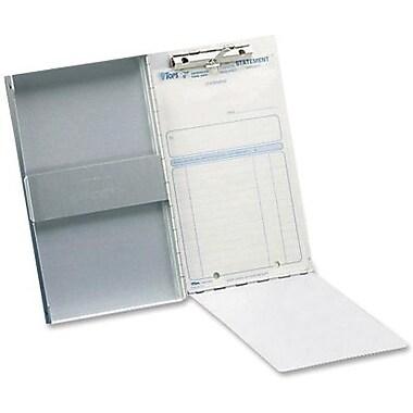 Saunders – Planchette à pince avec rangement, aluminium, 5 2/3 x 9 1/2 po