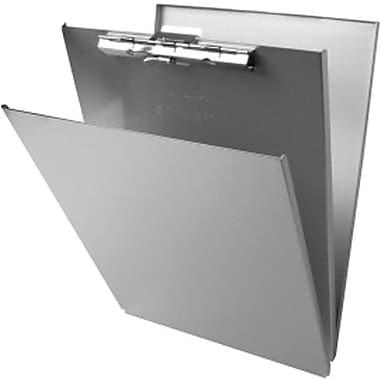Saunders – Planchette à pince avec rangement, aluminium, 8 1/2 x 12 po