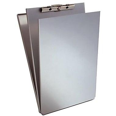 Saunders – Planchette à pince avec rangement, aluminium, 8,5 x 14 po