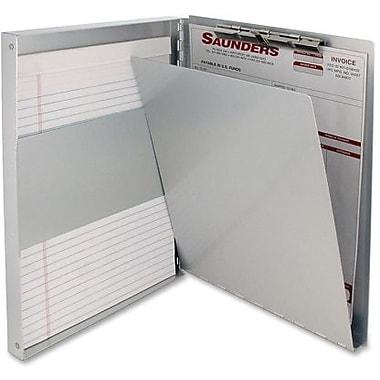 Saunders – Planchette à pince avec rangement, aluminium, 8,5 po x 12 po