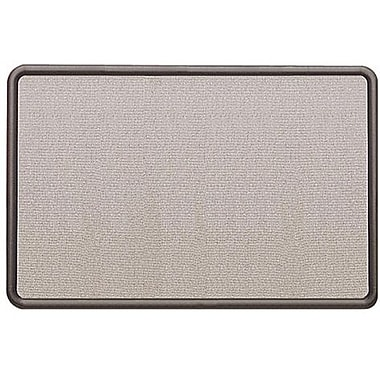 Quartet® Fabric-Covered Contour Bulletin Board, Graphite Frame, 36